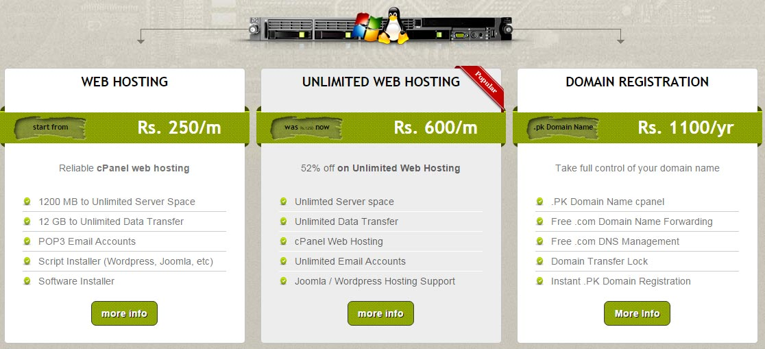 We Provide quality web hosting in Lahore Pakistan